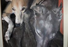 Whippet Painting